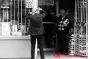 contemporary black and white street photography hamilton ontario